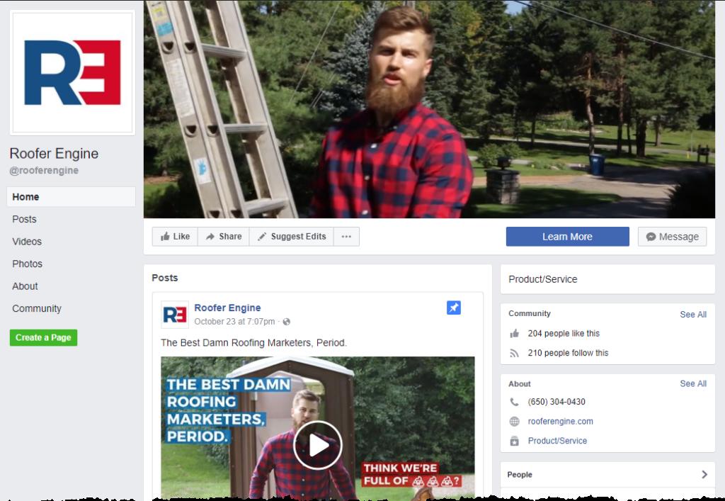 Roofer Engine Facebook Page Configuration